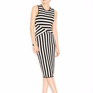 Bar lll Striped Midi Bodycon Dress